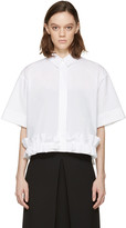McQ by Alexander McQueen White Poplin Ruffle Shirt
