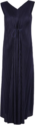 Pleats Please Issey Miyake V-Neck Pleated Dress