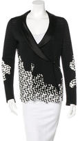 Chanel Embroidered Inset Blazer