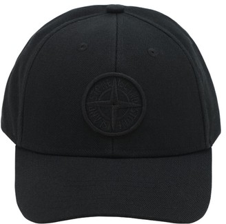 Stone Island Logo Acrylic & Wool Baseball Cap