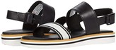 Timberland Adley Shore Ankle Strap Sandal (Black Full Grain Leather) Women's Shoes