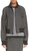 DKNY Linen Bomber Jacket