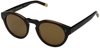 Raen Parkhurst 49 (Black/Tan Brown) Athletic Performance Sport Sunglasses