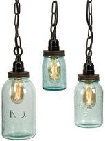 Mason Jar Pendant Lights - Set of 3