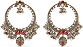 Alexander McQueen Crystal-embellished large hoop earrings