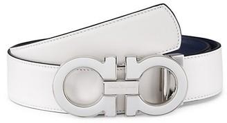 Salvatore Ferragamo Reversible & Adjustable Double Gancini Belt