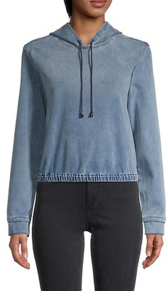 Frame Stretch-Cotton Cropped Hoodie