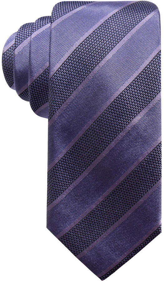 Alfani Men's Stripe Slim Silk Tie