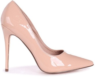 Linzi ASTON - Nude Patent Classic Pointed Court Heel