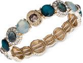 lonna & lilly Gold-Tone Multi-Stone and Pavé Stretch Bracelet