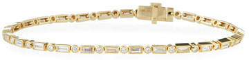 Sydney Evan 14k Narrow Baguette Diamond Bracelet