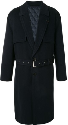 SONGZIO Belted Single-Breasted Coat