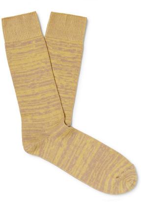The Workers Club Melange Cotton-Blend Socks
