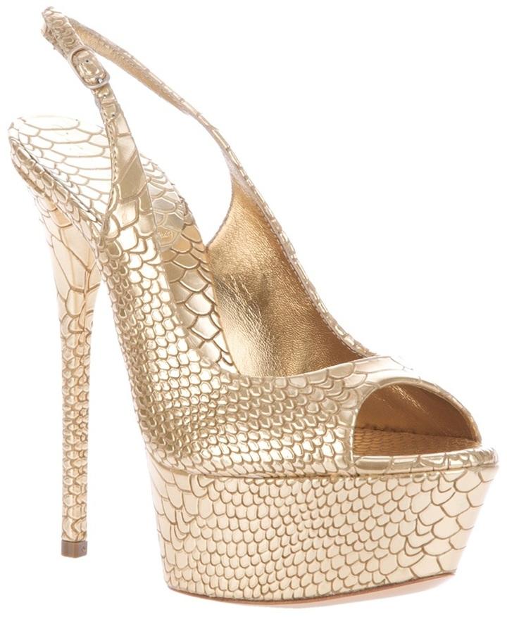 Casadei python skin sandal