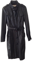 Burberry Black leather trench coat