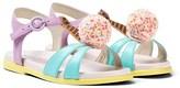 Sophia Webster Mini Multi-Coloured Leather Loni Sandals
