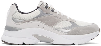 HUGO BOSS White and Grey Ardical Sneakers