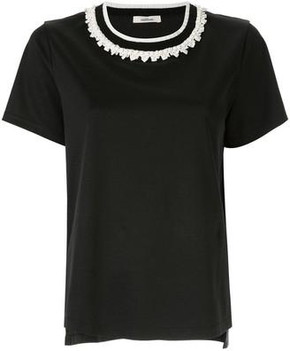 Onefifteen embellished collar T-shirt