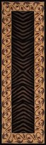 """Momeni Rugs NEWWANW-09BLK26C0 New Wave Collection, 100% Wool Hand Carved & Tufted Contemporary Area Rug, 2'6"""" x 12' Runner"""