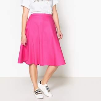 Castaluna Plus Size Plain Midi Flared Skirt