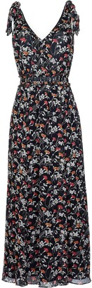 Joie Huntlie Floral Tie Strap Silk Dress