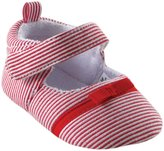 "Luvable Friends Baby Girls' ""Shining Stripes"" Mary Jane Booties"