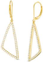 Zales 1-1/4 CT. T.W. Diamond Open Triangle Drop Earrings in 10K Gold