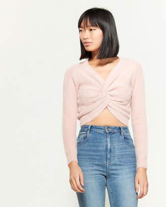 Love Tree Warm & Cozy Twist Front Long Sleeve Sweater