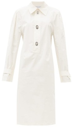 Bottega Veneta Point-collar Twill Shirt Dress - White