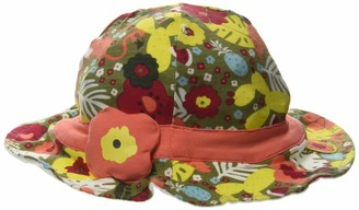 Tuc Tuc Orange Flowers Jersey HAT for Girl Tropical Jungle