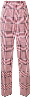 Gucci Straight-Leg Check Trousers