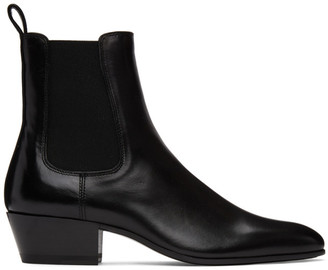 Saint Laurent Black Cole Chelsea Boots