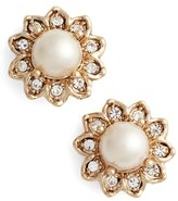 Marchesa Women's Button Earrings