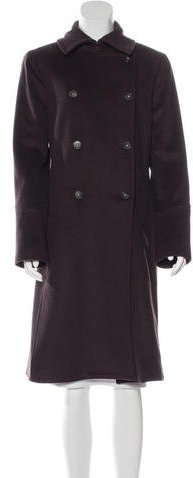 Theory Double-Breasted Wool Coat w/ Tags