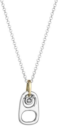 King Baby Studio Pop Top Sterling Silver Pendant Micro Rolo Chain Necklace