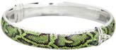 Sevil 925 Women's Bracelets Green - Green Snake Print Bangle