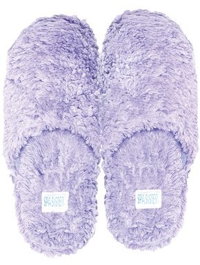 Spa Sister Shaggy Slippers, Lavender, Medium 6-8