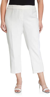 Kasper Plus Plus Size Textured Stretch Slim Pants