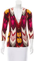 Tory Burch Ikat Patterned Wool Cardigan