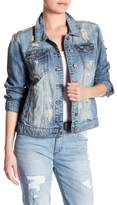 See Thru Soul Distressed Denim Jacket