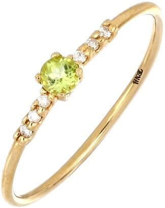 Bony Levy Iris Peridot & Diamond Ring