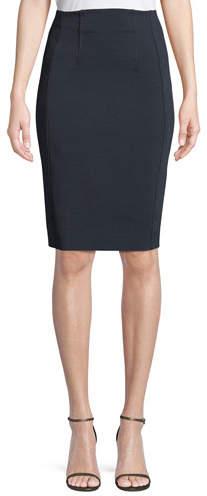 Diane von Furstenberg High-Waist Fitted Pencil Skirt