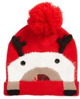 Collection XIIX Women's Dasher Reindeer Beanie - Red