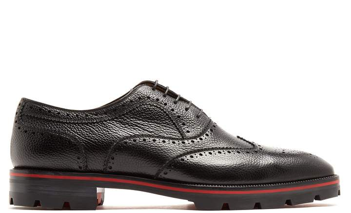 Christian Louboutin Charlie grained-leather brogues