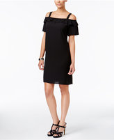 Thalia Sodi Ruffled Cold-Shoulder Dress, Created for Macy's