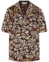 Prada Metallic cloqué jacquard shirt
