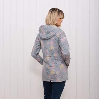 Brakeburn - Summer Waterproof Floral Jacket - S - Grey/Green/Yellow