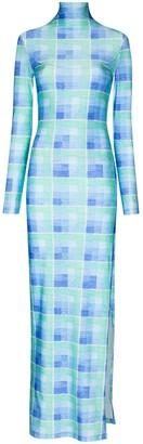 Supriya Lele Madras Check Print Maxi Dress