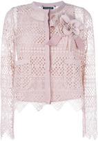 Twin-Set corsage crochet top