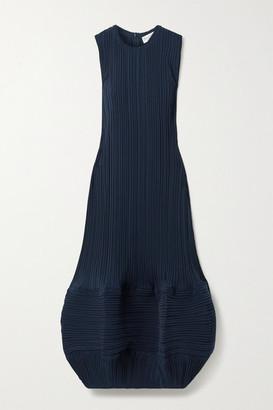 J.W.Anderson Plisse-crepe Midi Dress - Navy